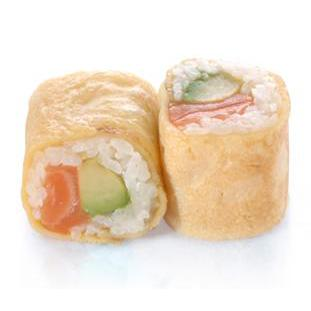 Egg rolls saumon avocat